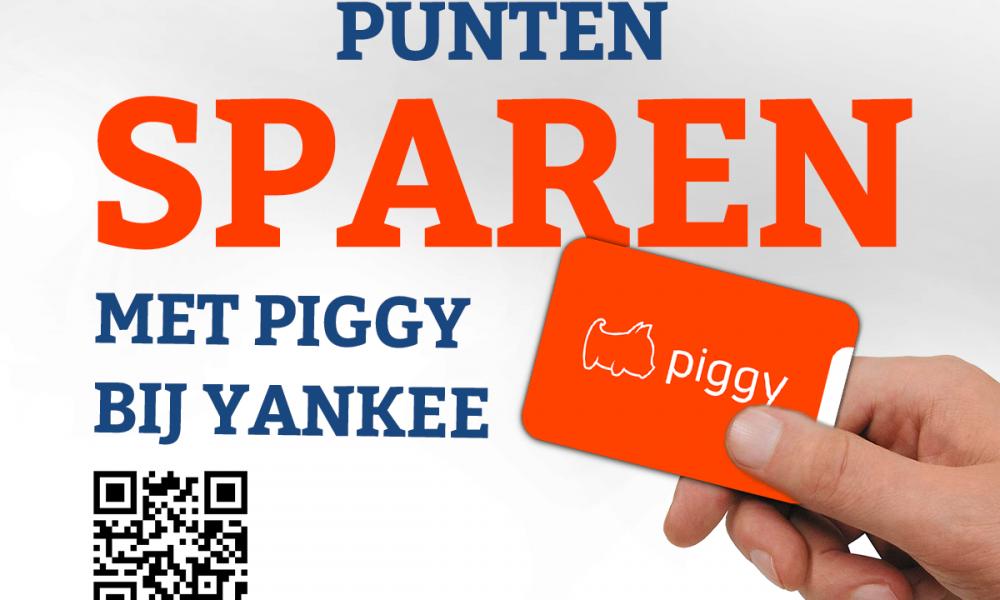 Piggy punten sparen bij Yankee Doodle