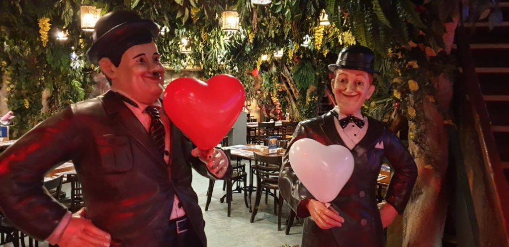 Laurel And Hardy Valentijnsdiner